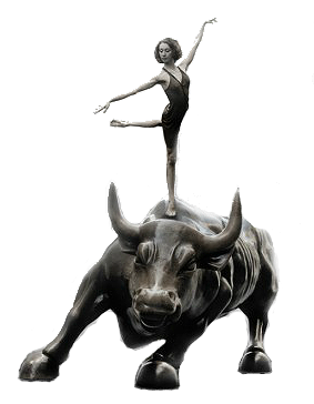 Ballerina on Wall Street Bull (from Occupy Wall Street)